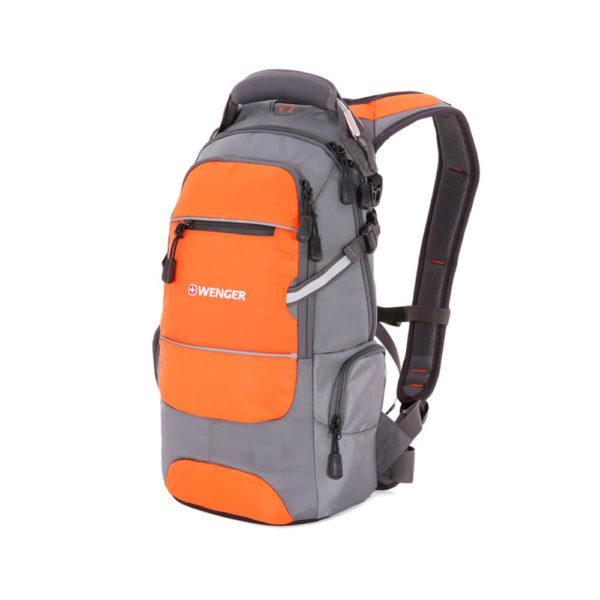 Походный серо оранжевый рюкзак WENGER 22л. 13024715-2