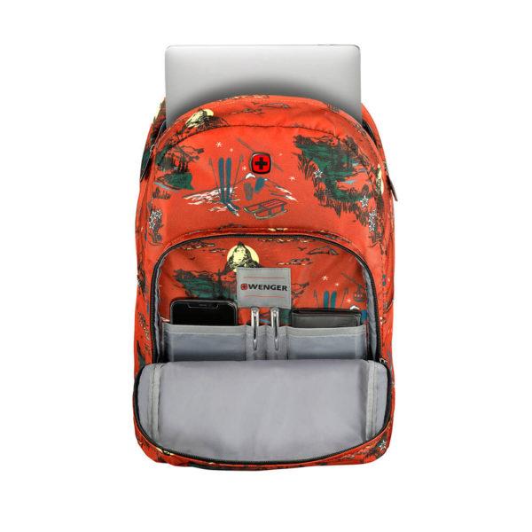 Женский красный городской рюкзак Crango WENGER 27л. 610194