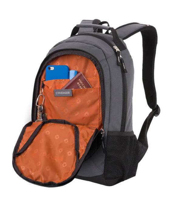 Школьный серый рюкзак WENGER 20л. 31264415-2