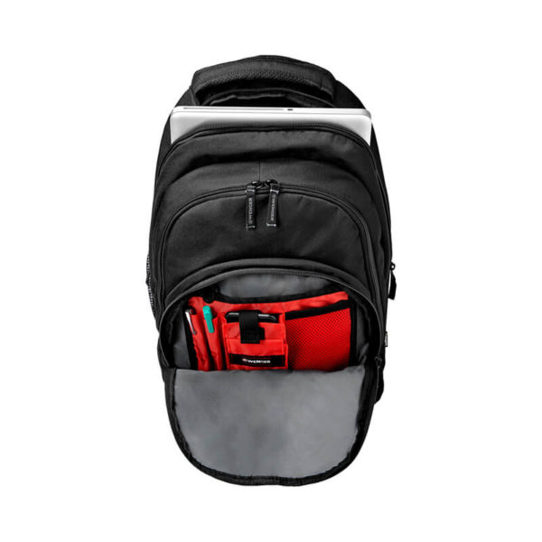 Черный мужской рюкзак Upload WENGER 25л. 64081001