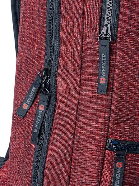 Деловой бордовый рюкзак WENGER 14л. 605024