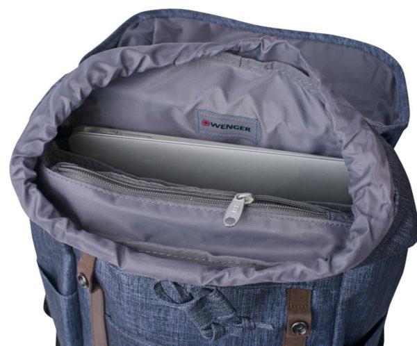 WENGER синий удобный рюкзак 16л. 605201