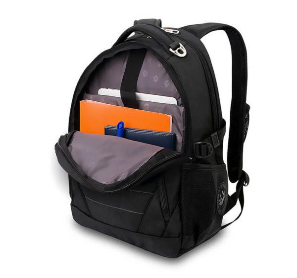 Мужской городской черный рюкзак WENGER 32л. 3107202410