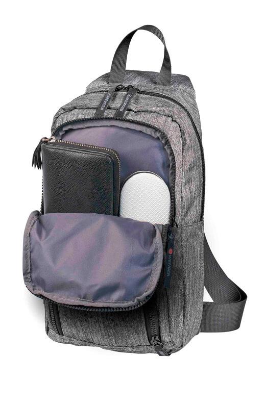 Рюкзак серый на одно плечо WENGER 8л. 605029