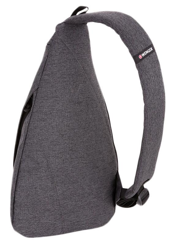Серый рюкзак на одно плечо WENGER 7л. 2607424550
