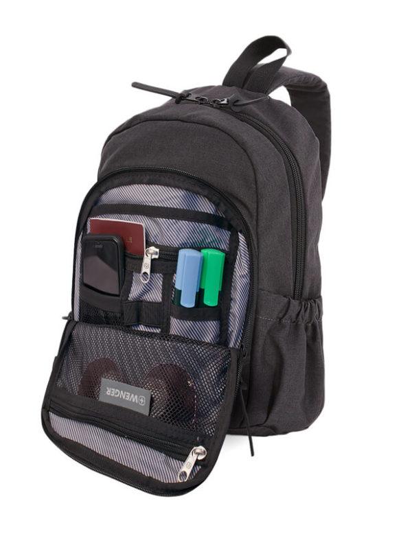 Серый однолямочный рюкзак на одно плечо WENGER 12л. 2608424521
