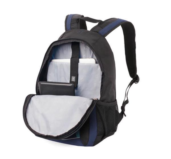 Городской черно синий рюкзак WENGER 22л. 3191203408