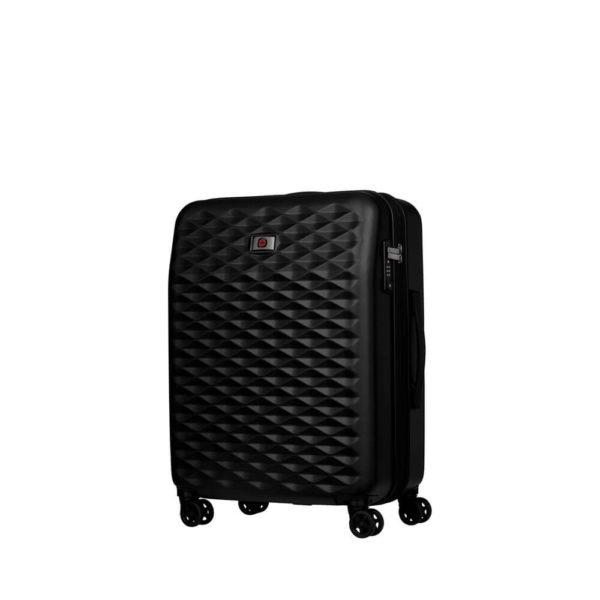 Компактный черный чемодан Lumen WENGER 61л. 604339