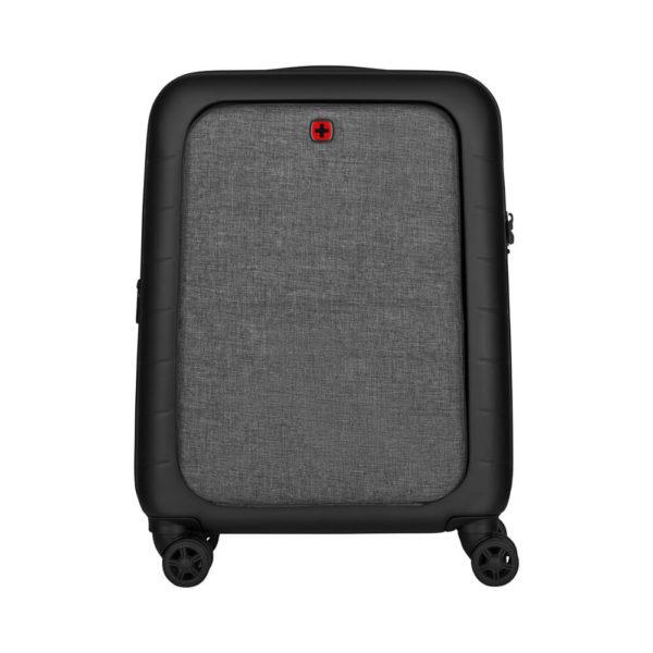 Удобный черно серый чемодан Syntry WENGER 36л. 610163