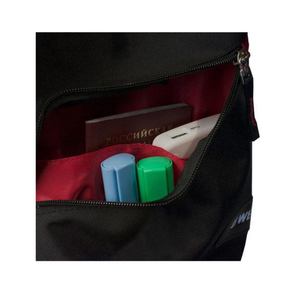 Однолямочный черный рюкзак на одно плечо WENGER 7л. 18302130