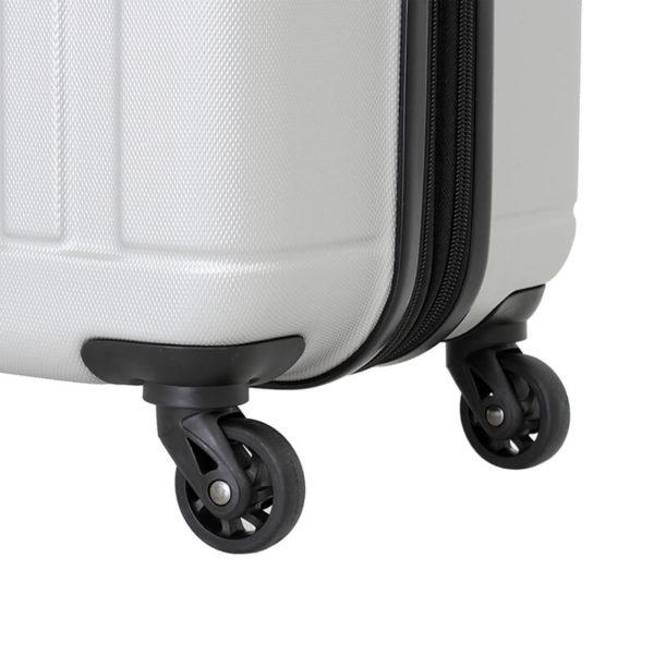 Серебристый чемодан на колесах USTER WENGER средний 62л. WGR6297404167