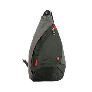 Однолямочный черный рюкзак на одно плечо WENGER 7л. 1092230