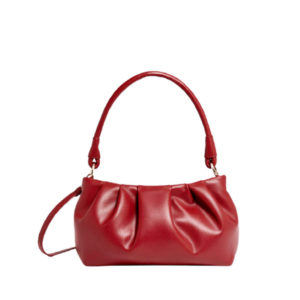 Женская бордовая сумка от бренда Stradivarius
