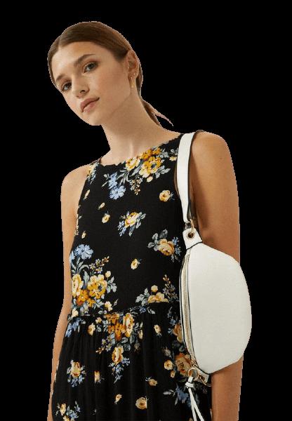 Белая сумка на поясе Stradivarius
