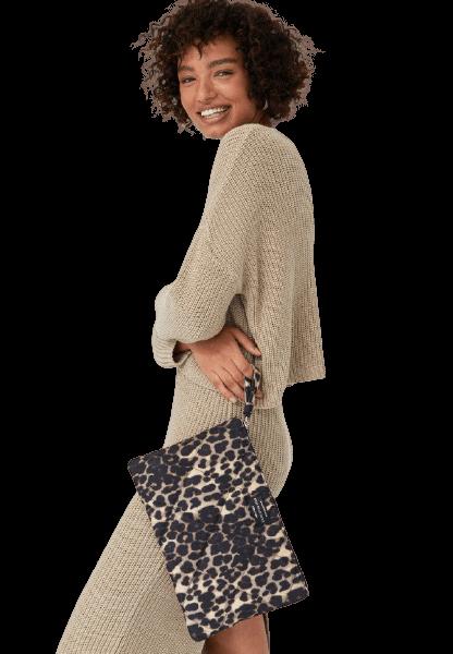 Stradivarius стильный женский клатч леопардовой расцветки