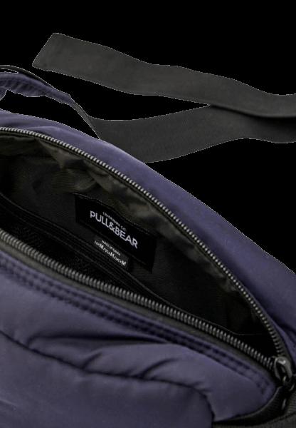 Pull&Bear Синяя поясная сумка из полиэстера