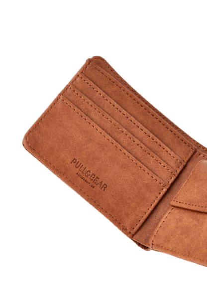 Коричневый бумажник от Pull&Bear