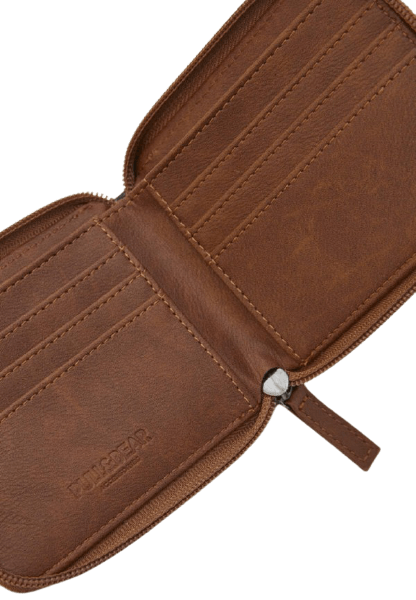 Коричневый кошелек на молнии Pull&Bear