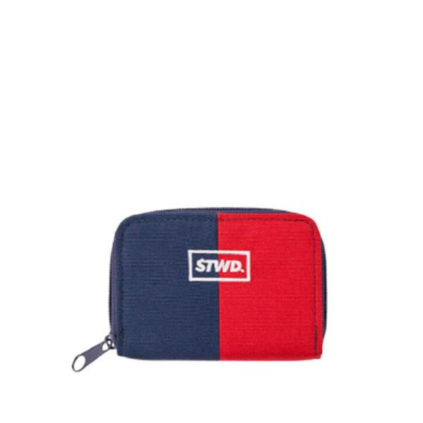 Небольшой красно-синий кошелек на молнии Pull&Bear