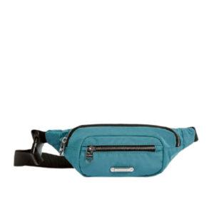 Бирюзовая сумка на пояс Pull&Bear