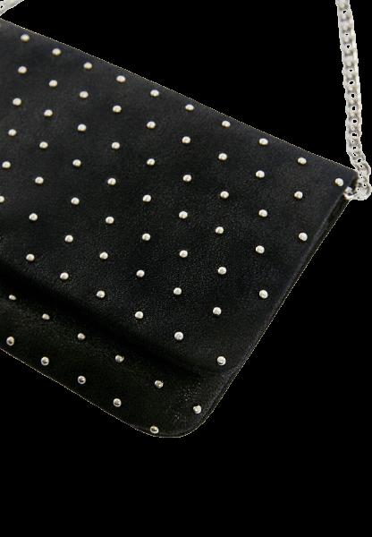 Черная женская сумка с цепочкой через плечо Pull&Bear