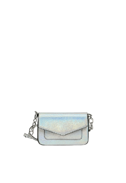 Небольшая серебристая женская сумка Pull&Bear