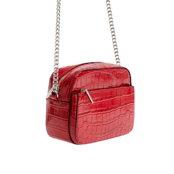 Красная мини сумка на плече Stradivarius
