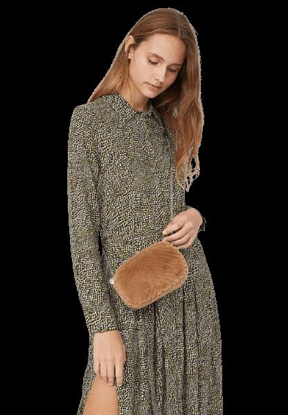 Женская небольшая меховая сумка на плечо Stradivarius