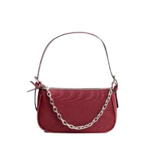 Бордовая женская сумочка на молнии Stradivarius