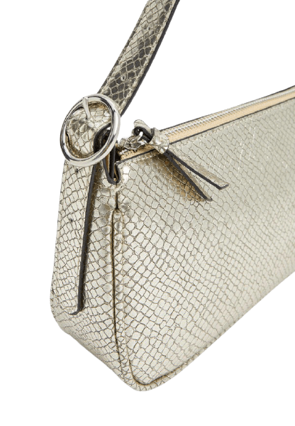 Модная золотистая женская сумка Stradivarius