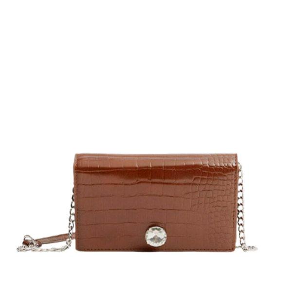 Женская коричневая сумка на плече Stradivarius