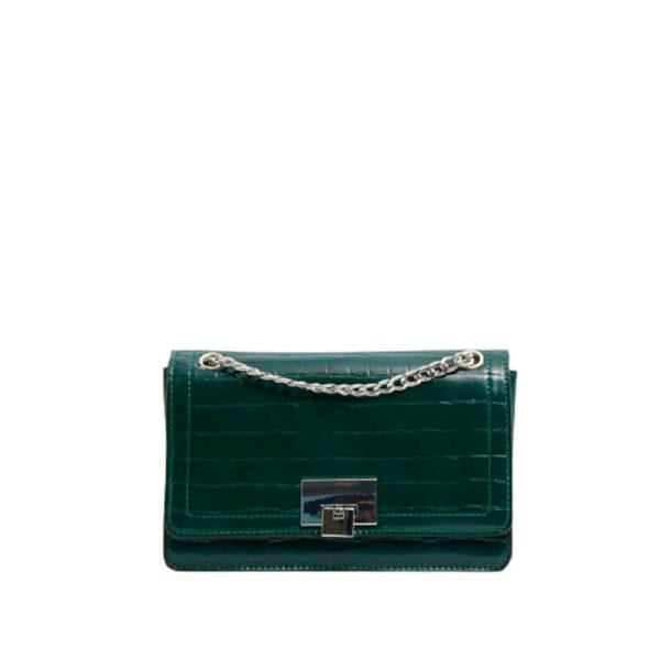 Зеленая женская наплечная сумка Stradivarius
