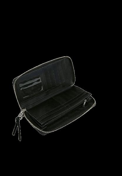 Женский черный кошелек на молнии Pull&Bear