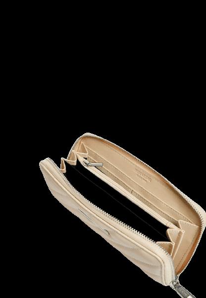 Стильный бежевый кошелек на молнии Pull&Bear