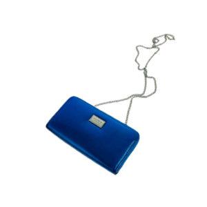 Синий женский клатч на цепочке Pull&Bear