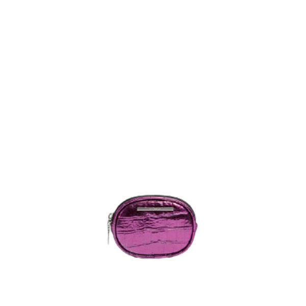 Овальный мини кошелек фиолетового цвета Pull&Bear