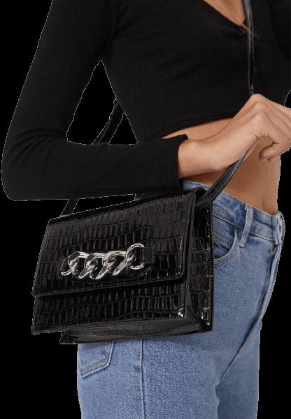 Черная дамская сумка на плечо Stradivarius
