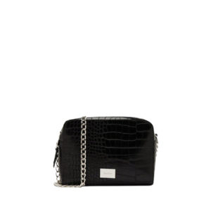 Bershka черная женская сумка с ремнем из цепочки