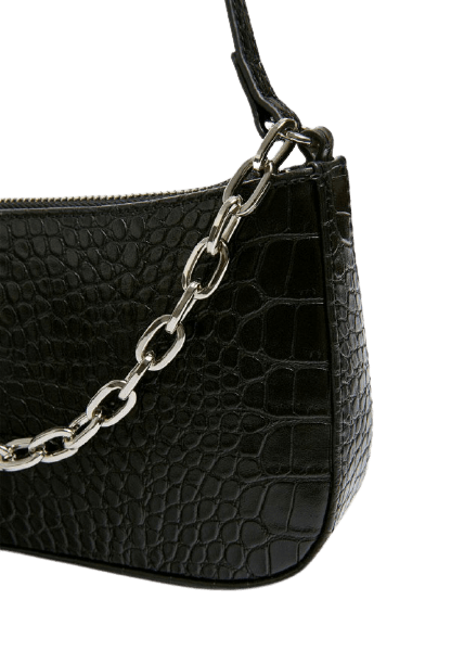 Женская черная сумочка на руку Pull&Bear