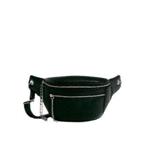 Черная набедренная сумка на молнии Pull&Bear