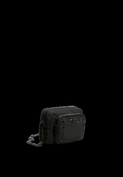 Черная сумка на цепочке через плечо Pull&Bear