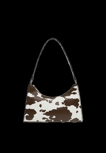 Белая женская сумка с коричневыми пятнами Pull&Bear