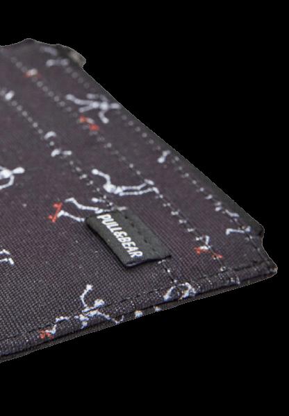 Черный кошелек на молнии и кармашками Pull&Bear
