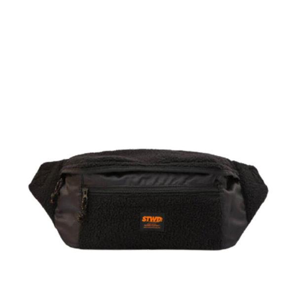 Удобная сумка на пояс черного цвета Pull&Bear