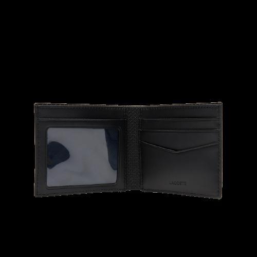 Мужское черное портмоне Лакост CHANTACO из 100% кожи